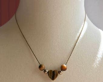 Vintage Beaded Heart Necklace - Avon