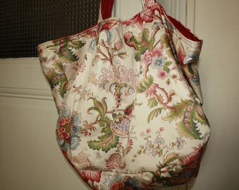 "Tote bag reversible bag Tote ""Madame Pompadour spree"""