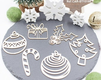 Embellishments patterns Funny Christmas scrapbooking, home decor, creative cardmaking