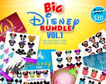 DISNEY SVG Bundle Minnie Mouse svg Mickey svg files Disney svg files Disney castle svg Disney Alphabet svg disney font svg christmas svg