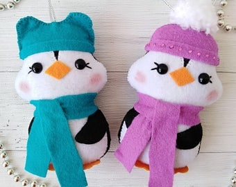 Christmas Decorations Penguin Felt Animals Toys Christmas Ornaments Holiday Decor Christmas Gift For Kids Room Decor New Year Felt Penguin