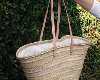 This tote bag. Palm tree backpack. Long leather handles this tote bag. Size XL. Summer bag. Summer shopping bag. This tote bag. Straw Tote size XL