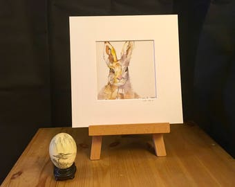 HARE art, print, artwork, animal, 232mm x 232mm, wildlife, perfect gift, nature, home decor, gift for her, gift for him