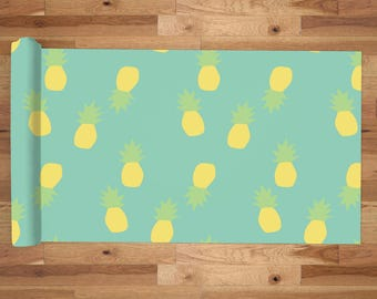 Yoga Mat with Carry Bag - Pilates Mat - Yoga gift for him/her - Thick Yoga Mat - Exercise Mat - Happy Pineapples