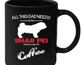 Gift for Shar-pei Owner, Gift for Dog Lover - Shar-pei Lover Black Mug