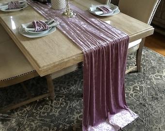 Ice Lavender Velvet Table Runner Wedding Decoration Decorations