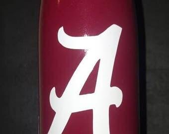 Alabama 17oz water bottle, stainless steel. Alabama big A