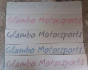 "Small 10"" Glambo Decal Sticker"