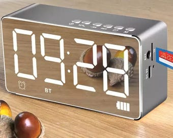 Sounded FM radio Alarm Clock Bluetooth Speaker with Premium HD sound