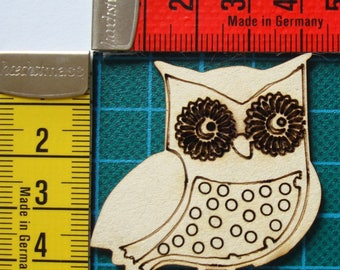 OWL 1604 embellishment wooden creations