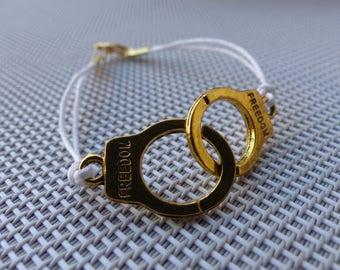 Waxed cotton wire Cuff Bracelet