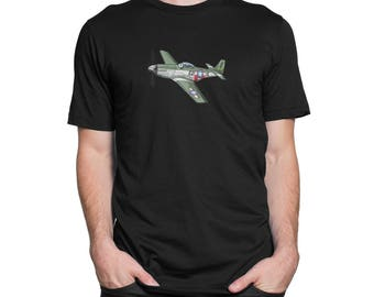WWII American P51 Mustang Fighter Plane Shirt