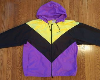 Vintage Retro 80's 'The Finals' Mens XL Jacket/Windbreaker. Int. Ladies Garment Workers Union Made in the U.S.A! 100% Nylon