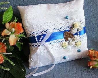 Wedding Ring Pillow, Ring Bearer Pillow, Wedding Pillow,  Ring Bearer, Lace Ring Pillow, Rustic Wedding, Ring Cushion