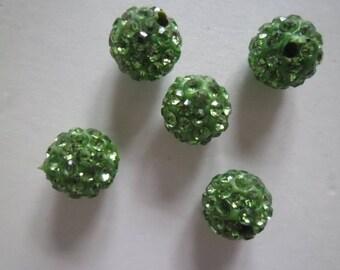 10 real samballa green 10 mm Crystal beads