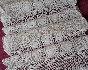 Huge crochet table runner