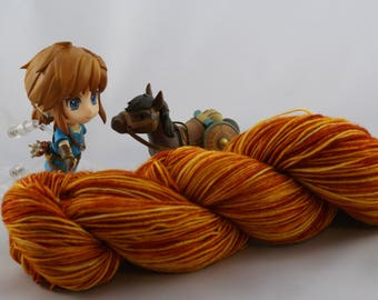 Hand Dyed Sock Yarn, superwash merino wool, variegated, hand dyed yarn, Yarn for knitting, hand dyed merino wool, Pumpkin Patch