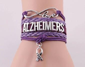 Alzheimers awareness bracelet