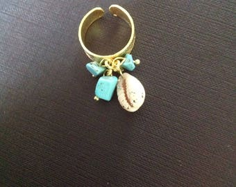 Maldives turquoise ring