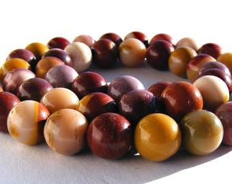 8 jaspes mokaïtes de 8 mm perles pierre multicolore.