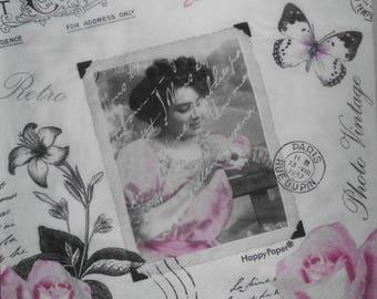 paper towel-155 retro photo vintage 40 x 40 cm