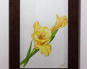 Original Watercolor painting - Flower