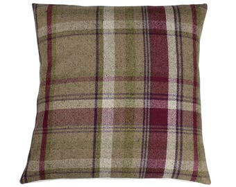 Skye Heather Checked Tartan Plaid Cushion Cover