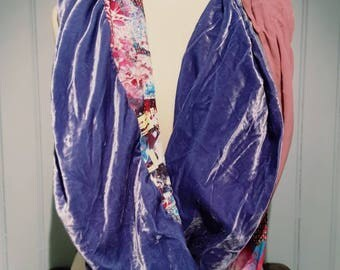 Snood double patchwork babachic eharpe shawl...