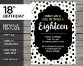 Teenager Birthday, 18th B...