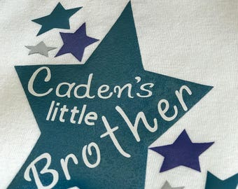 Personalized little brother onesie pick your vinyl color Perfect gift for little ones