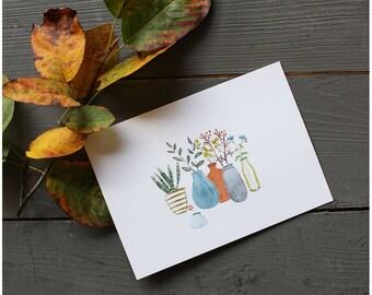 13 Card Flowers & Plant Autumn Colors