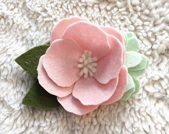 Anemone felt floral headband