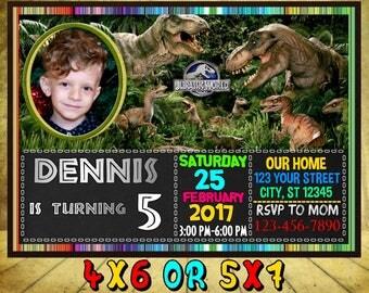 Jurassic park invite Etsy