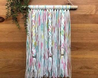 Colorful Yarn Wall Hanging