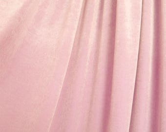 Grace LIGHT PINK Stretch Velvet Fabric by the Yard, Half Yard, Bolt and Wholesale - SKU 5000