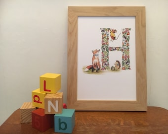 Nursery print - Letter H