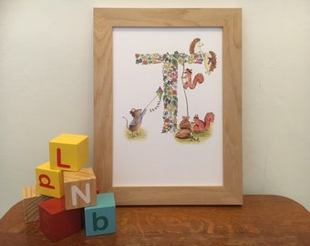 Nursery print - Letter T