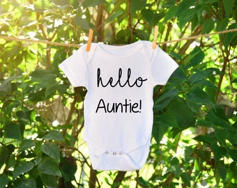 Baby announcement for aunt,pregnancy Announcement Onesie, Baby Announcement Onesie, Last Name Onesie, Last Name Bodysuit, Custom Baby Onesie