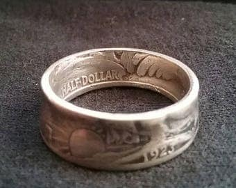 1923 Walking Liberty Coin Ring