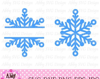 Snowflake Cut File eps,png,dxf and svg file for the Cutting Machines