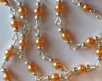 55cm of string/coral glass Pearl 4mm beads