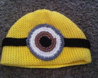 Yellow Minion Crochet Hat