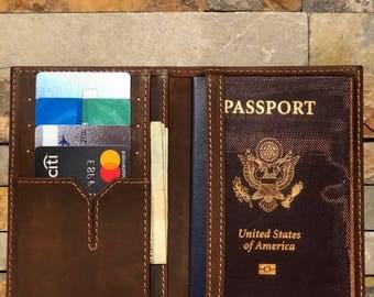 Leather Passport Wallet•Leather Passport Holder•Passport Case•Personalized Passport Cover•Leather Wallet•Wallet•Personalized Gift
