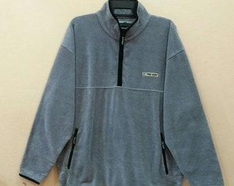 PRO KEDS fleece jacket pullover spellout half zipper 2L size