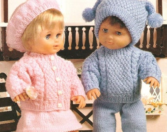 Doll Clothes, Knitting Pattern, Instant Download.