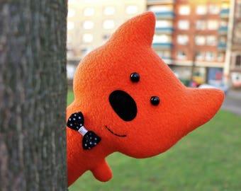 Orange cat toy Easter gift Stuffed cat Fabric animal Handmade toy cat