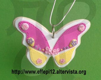 Butterfly-shaped Christmas decoration