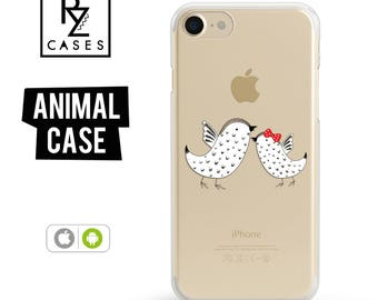 Birds Phone Case, iPhone 7 Case, Cute Animal Phone Case, Birds Case, Gift for Her, iPhone 7 Plus, iPhone 6S, iphone 6 plus, Gift For Mum