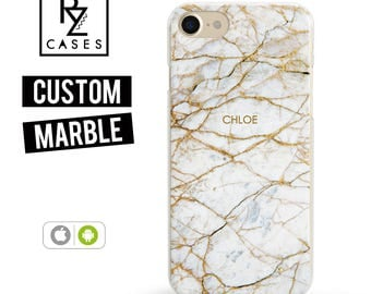 Marble Phone Case, Marble iPhone 7 Case, Personalized Gift for Her iPhone 7 Plus Case, 6S Plus, Custom Phone Cases, Custom Marble Case, Gift