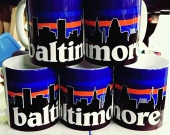 Baltimore City Skyline Mug